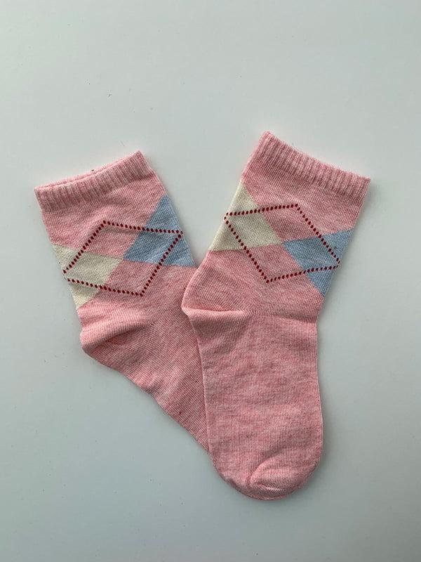 Шкарпетки рожеві в принт   5106882