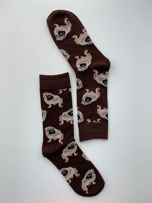 Шкарпетки чорні в принт   5106891
