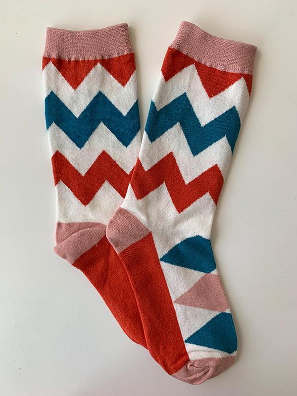 Шкарпетки білі в смужку | 5106909