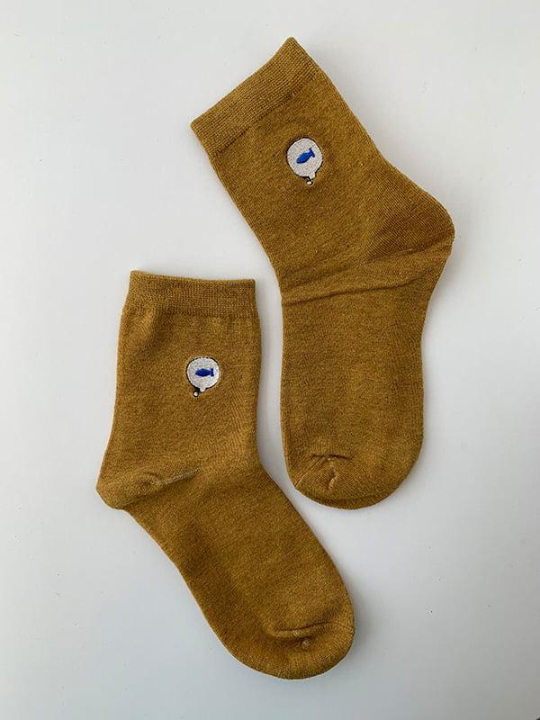 Шкарпетки жовті з рисунком   5106929