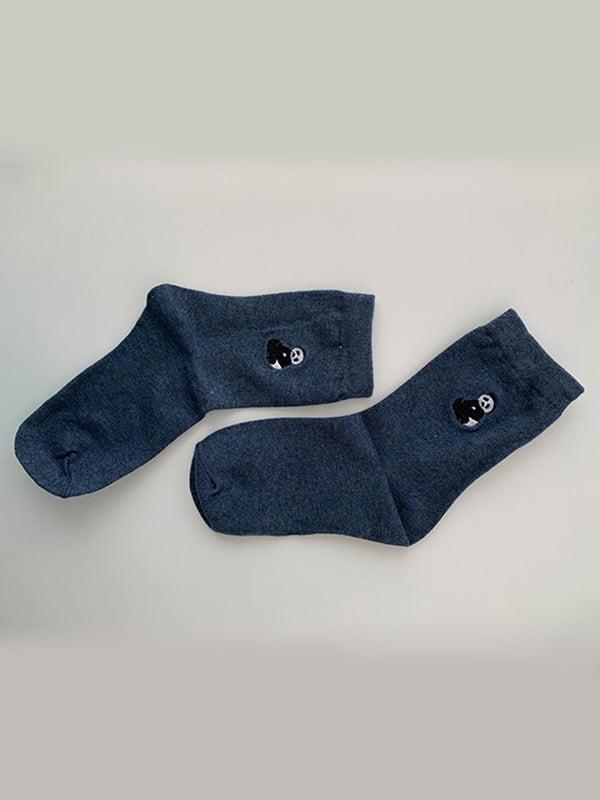 Шкарпетки сині з рисунком | 5106935
