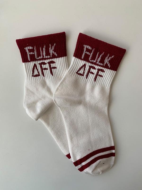 Шкарпетки білі з принтом | 5106942