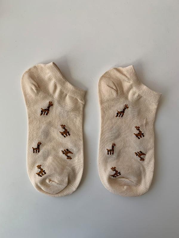 Шкарпетки рожеві в принт | 5106953