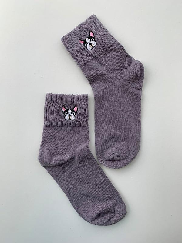 Шкарпетки сірі з рисунком | 5106958