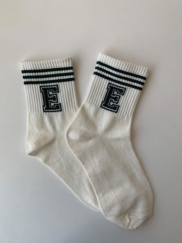 Шкарпетки білі з принтом   5106974