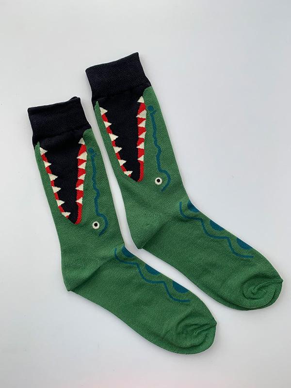 Шкарпетки зелені в принт   5106979