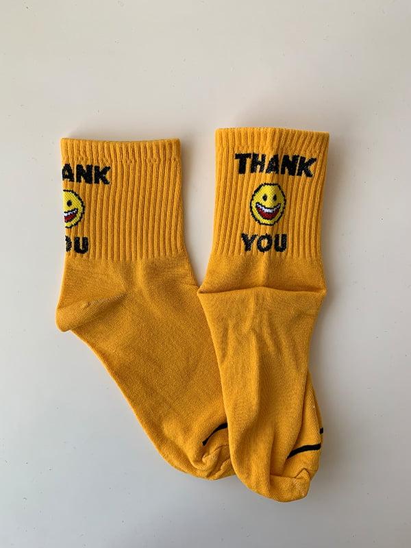 Шкарпетки жовті з принтом | 5106990