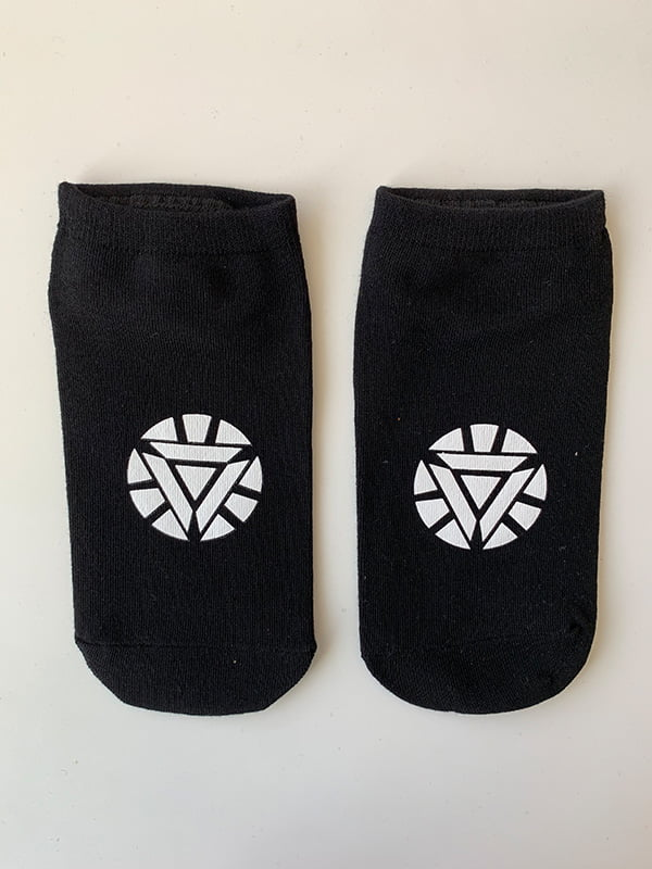 Шкарпетки чорні з рисунком | 5106996