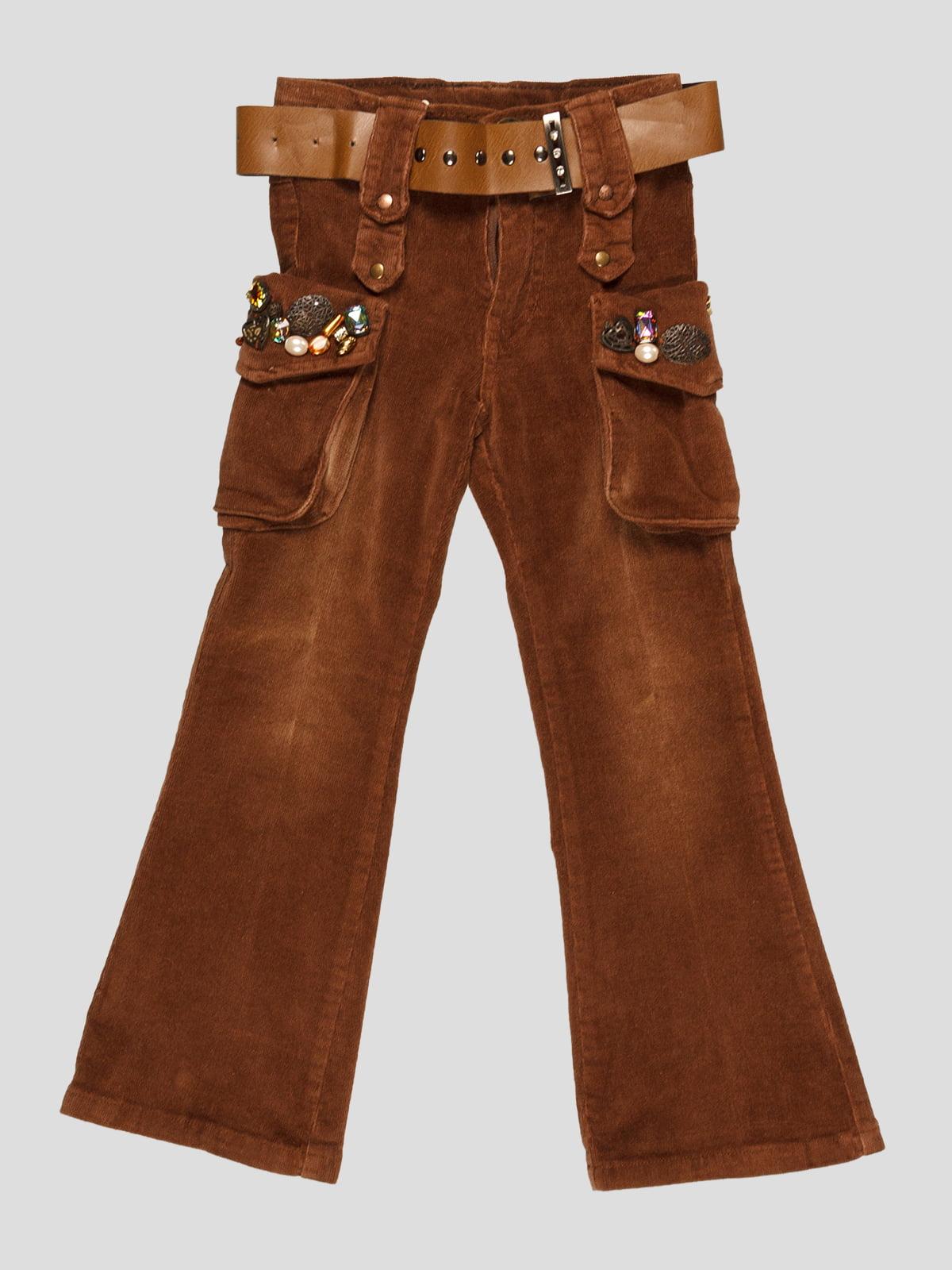 Штани коричневі | 4339595