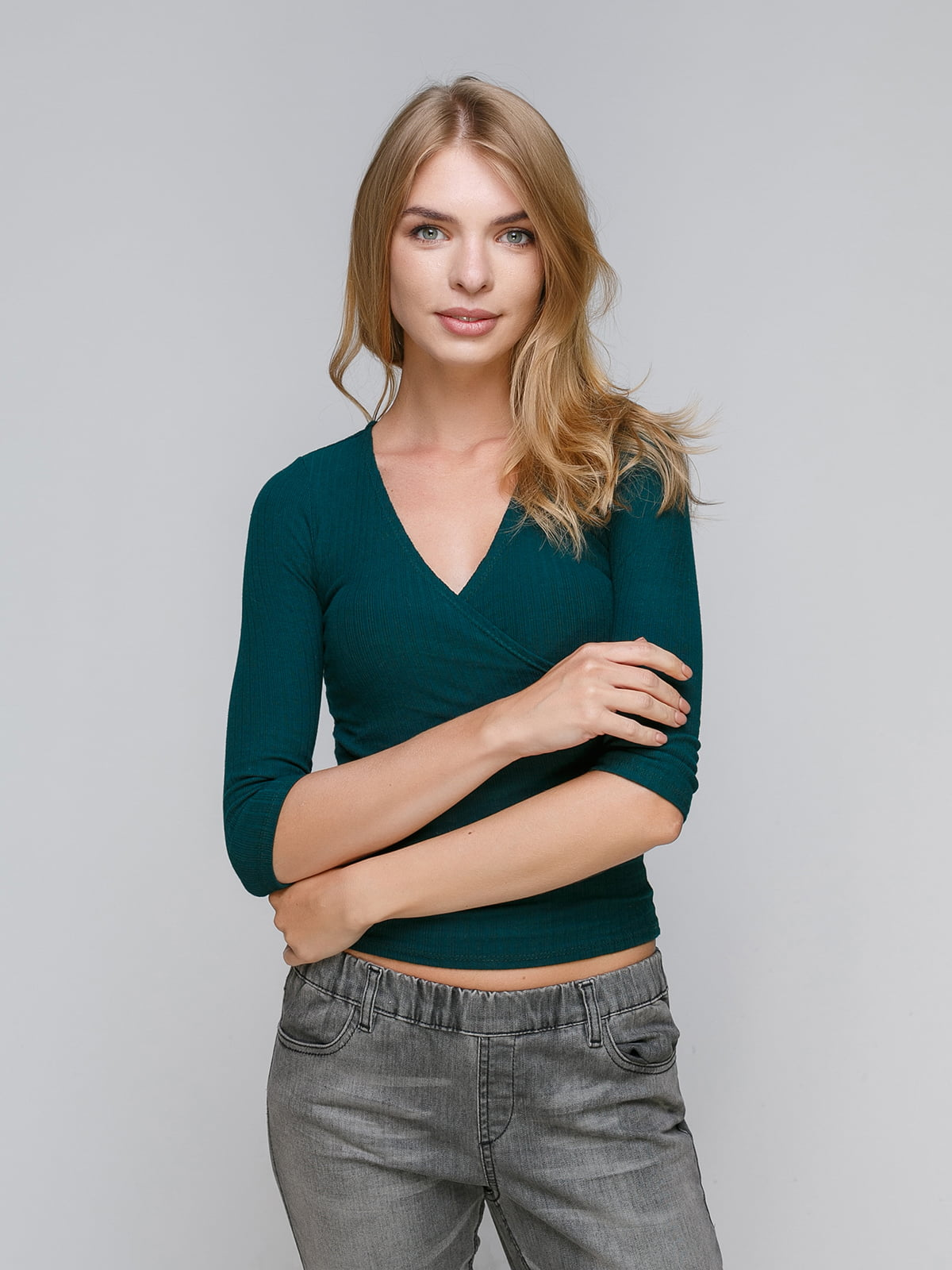 Пуловер зелений | 4566696