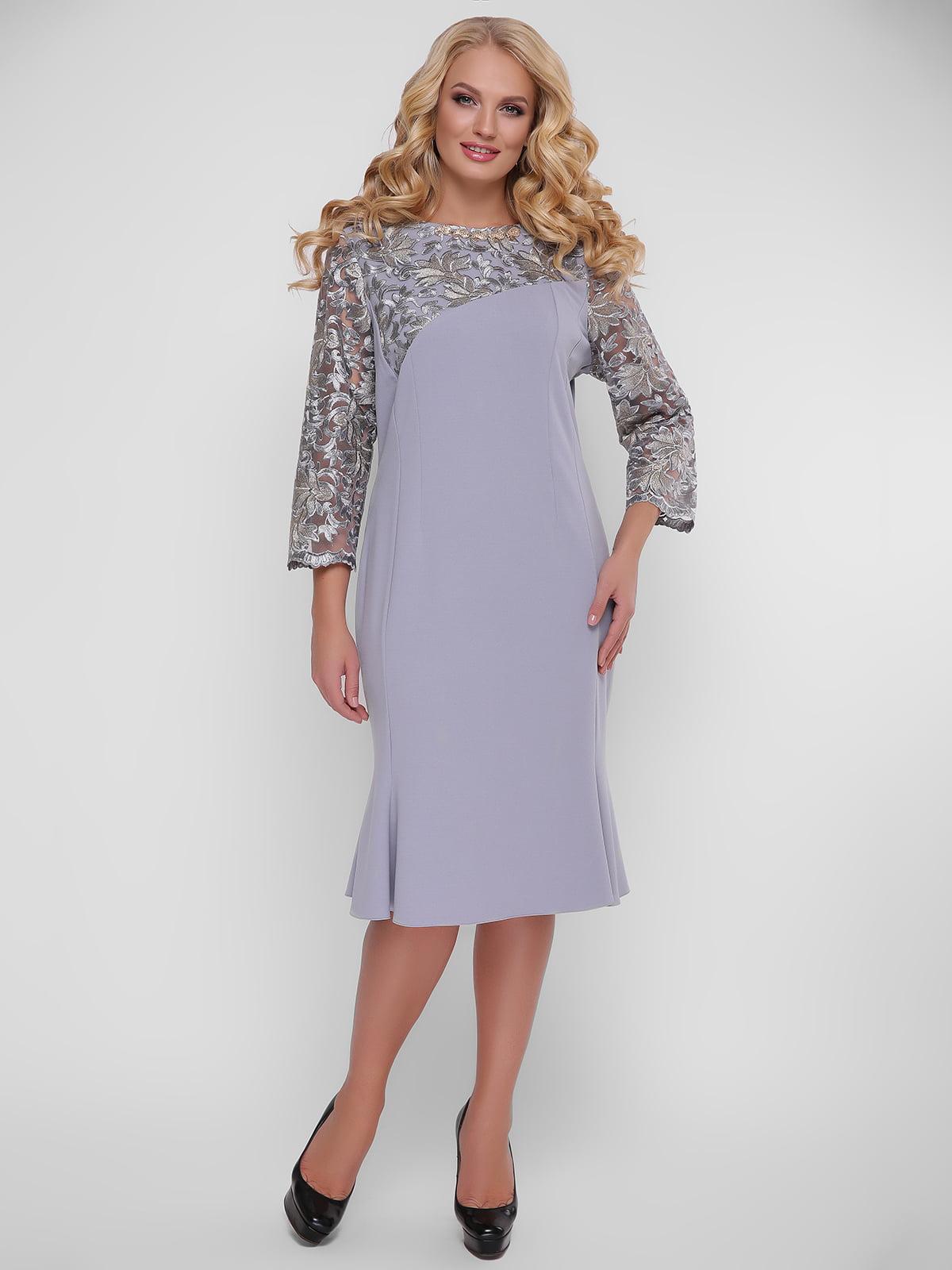 Сукня сіро-бузкова | 5109040
