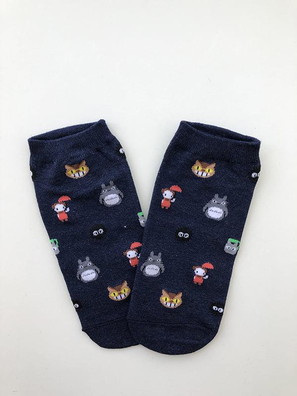 Шкарпетки темно-сині з малюнком | 5107016