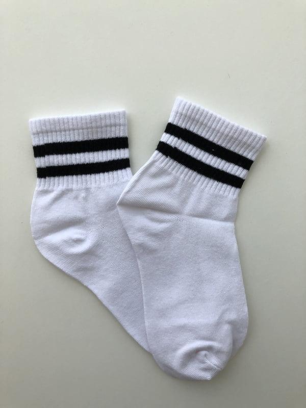 Шкарпетки біло-чорні | 5107026