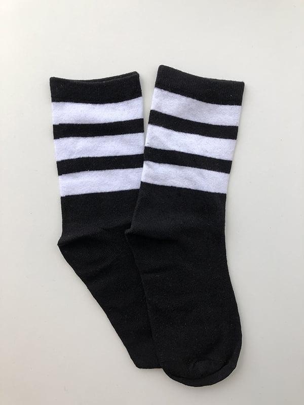 Шкарпетки чорні в смужку   5107032