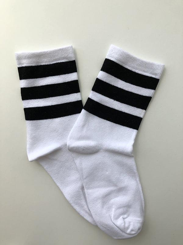 Шкарпетки білі в смужку | 5107033