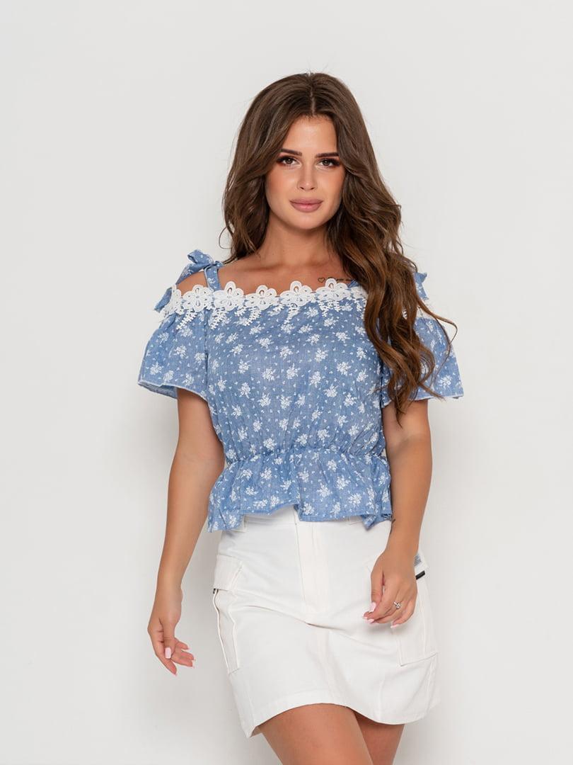 Блуза синяя | 5111452