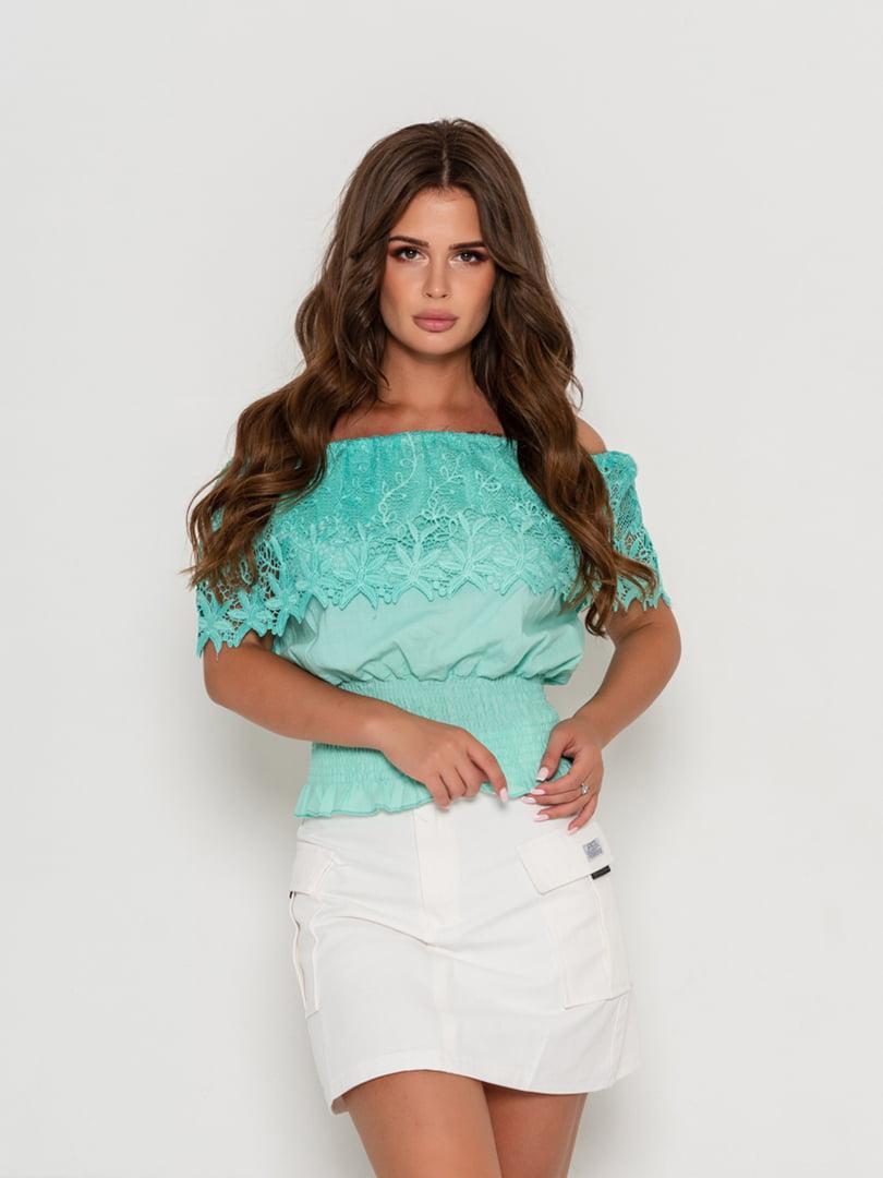 Блуза зеленая | 5111453