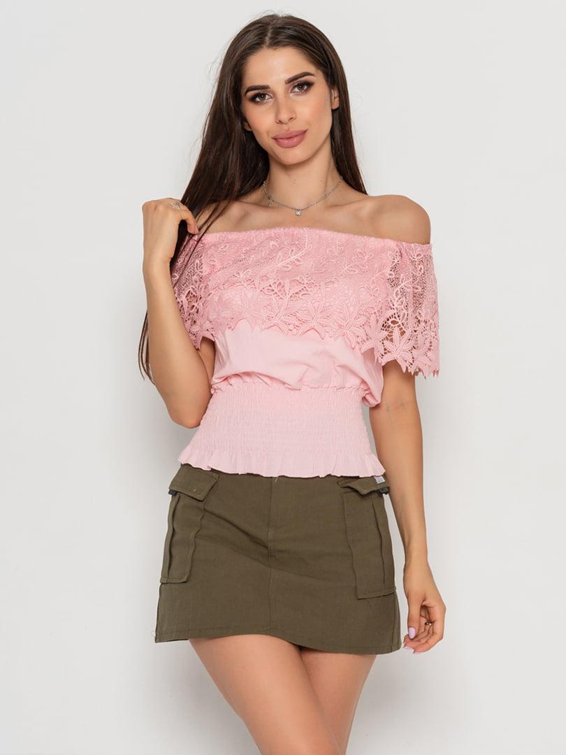Блуза розовая | 5111455