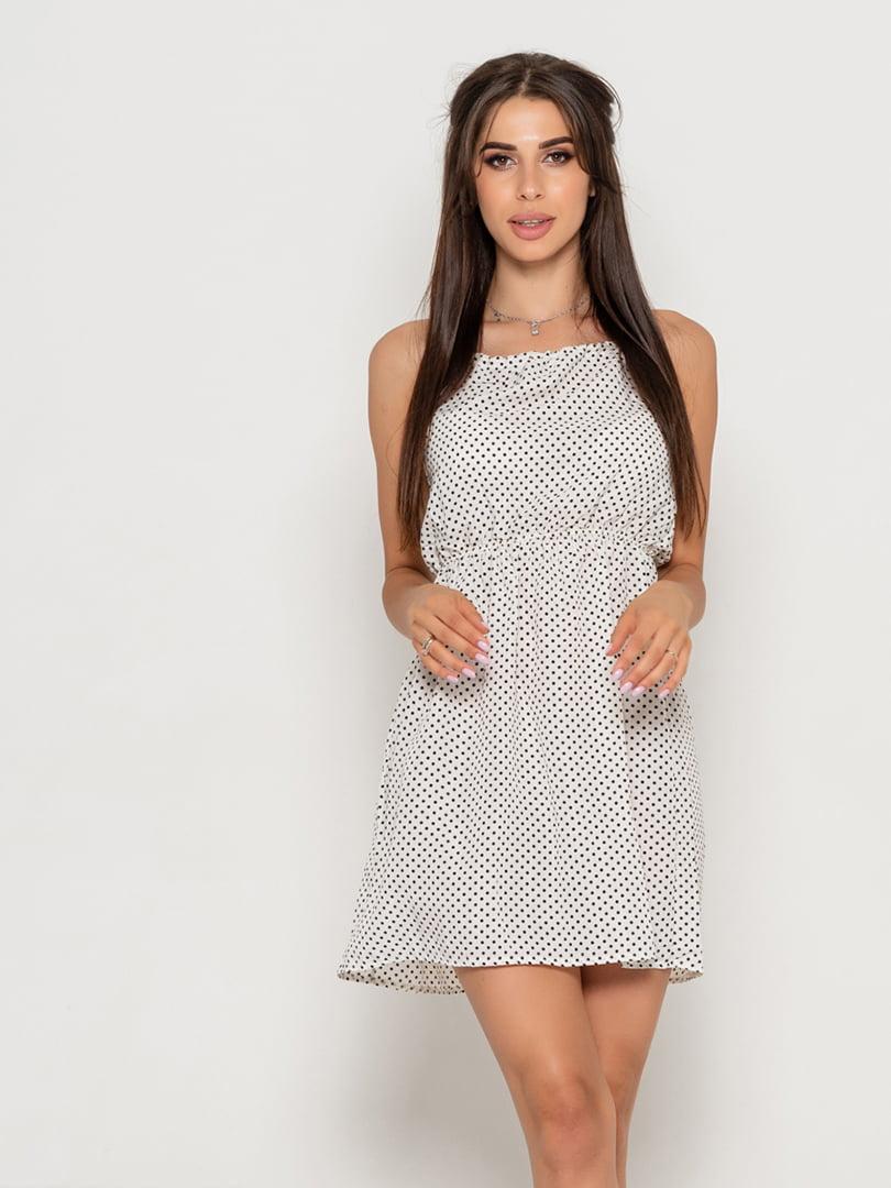 Платье белое в горох   5111482