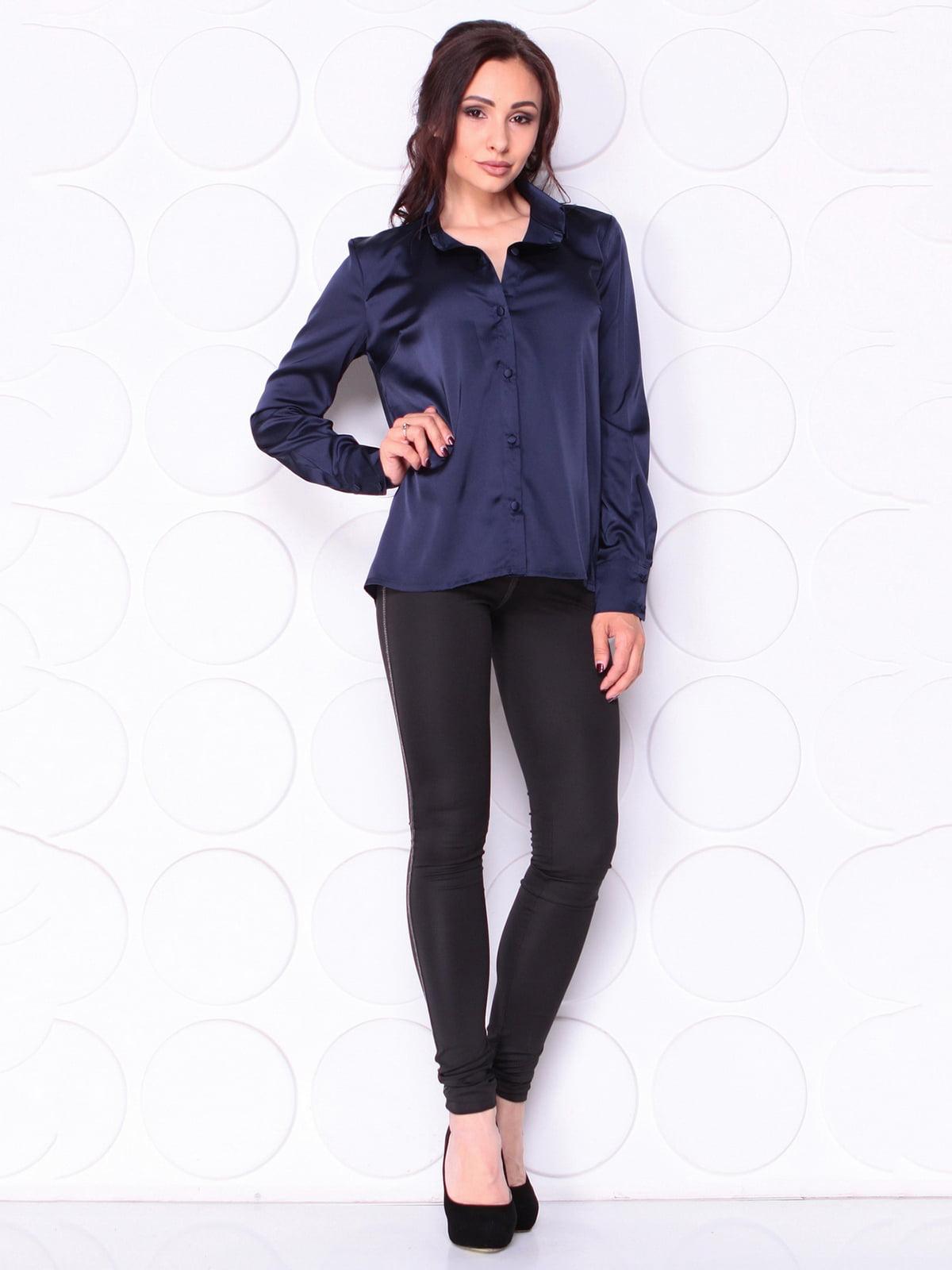 Блуза темно-синя | 5111559