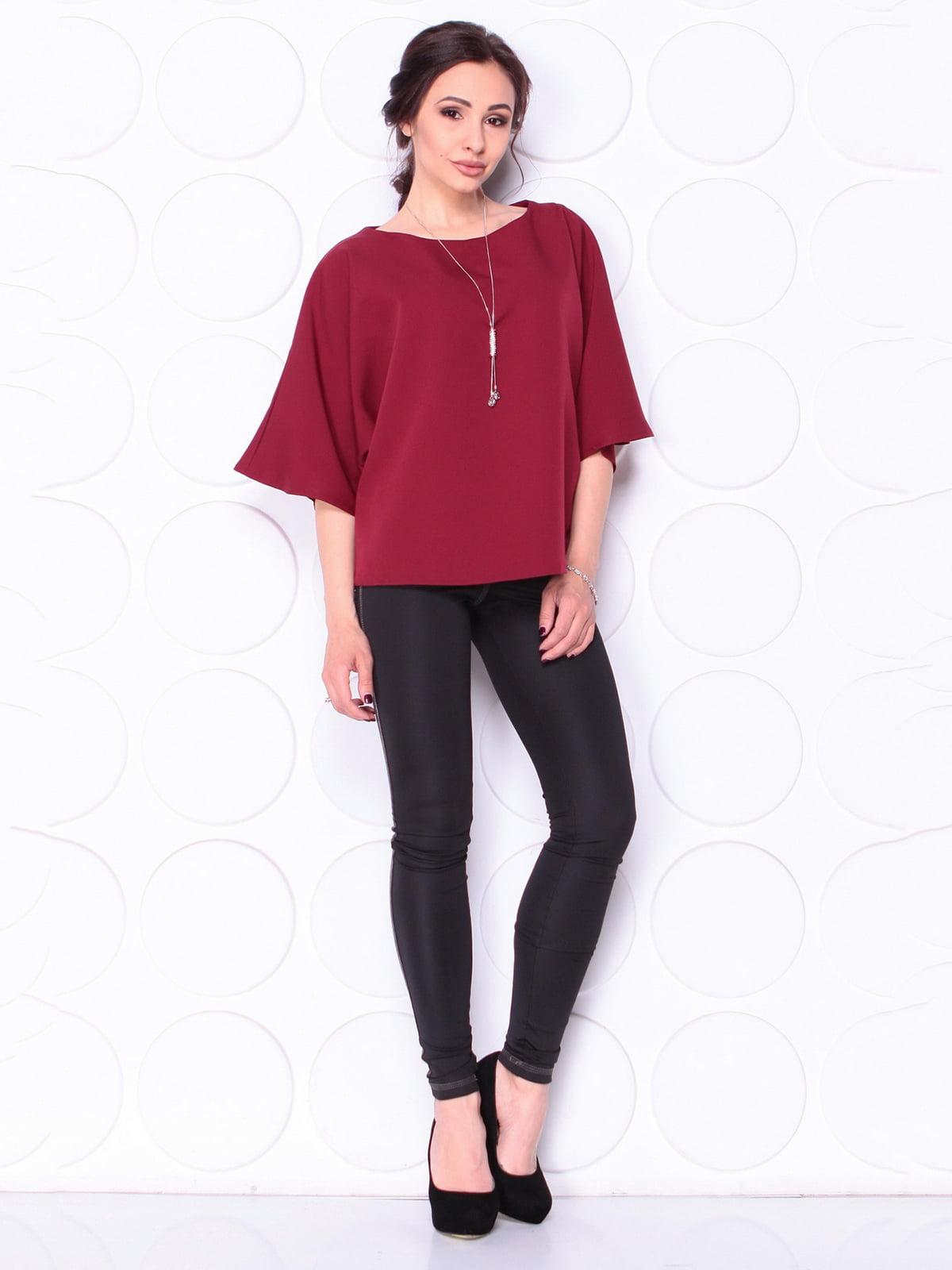 Блуза бордовая | 5111651