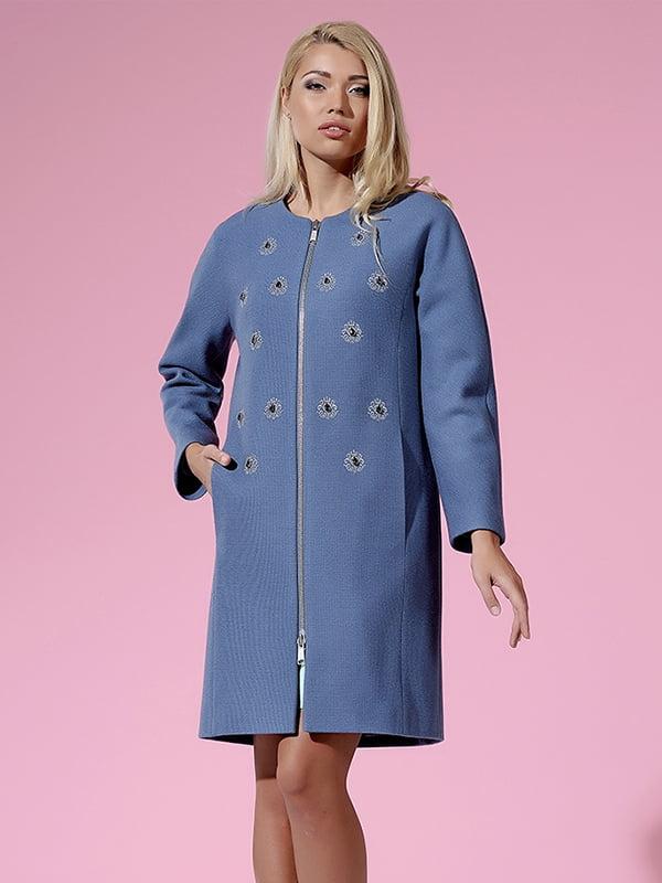 Пальто голубое   4973643