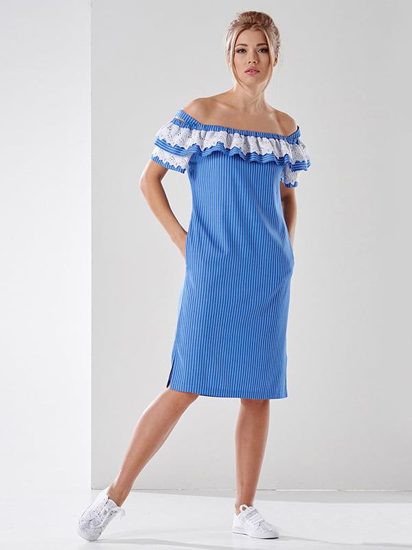 Сукня синя в смужку | 4973677