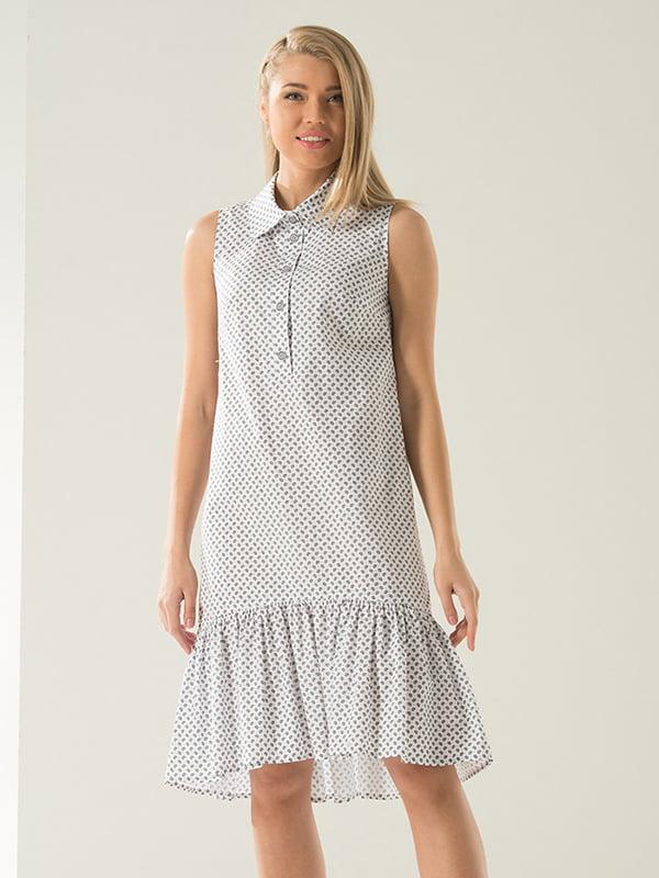 Платье белое в принт | 4973696