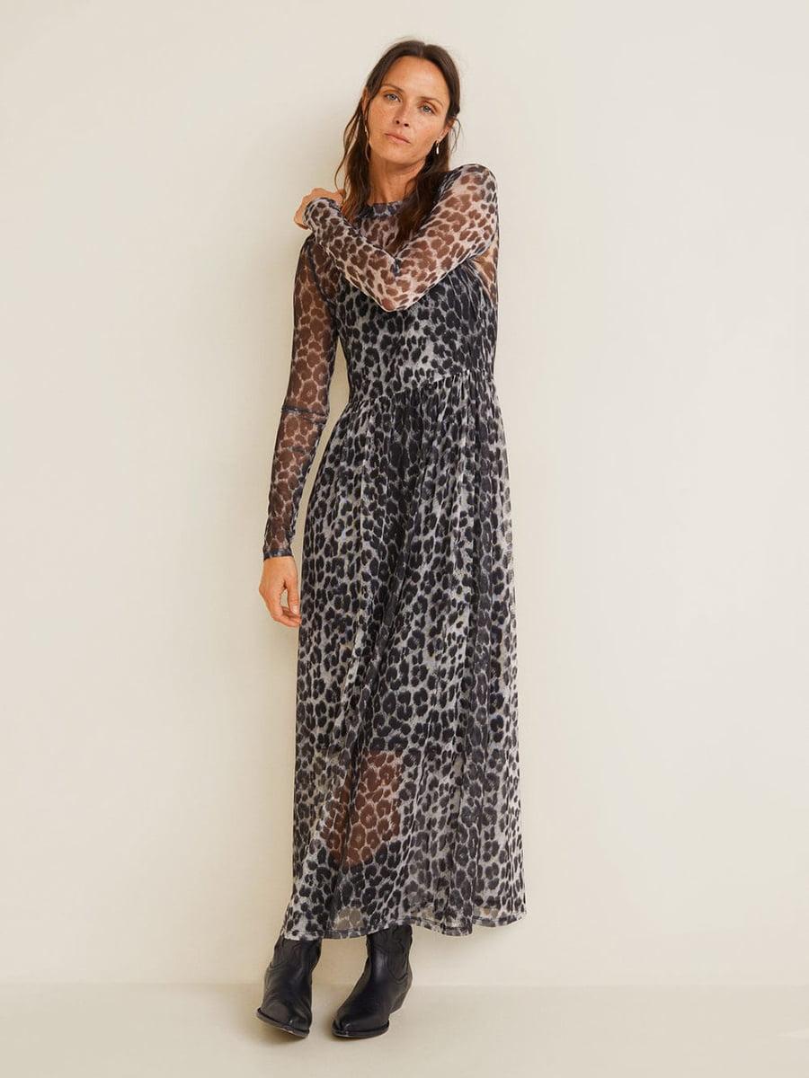 Сукня сіра в анімалістичний принт   4902582