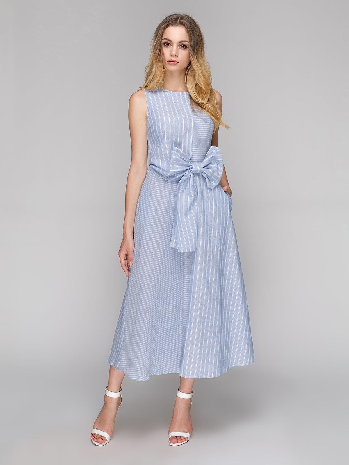 Сукня блакитна в смужку | 5108440
