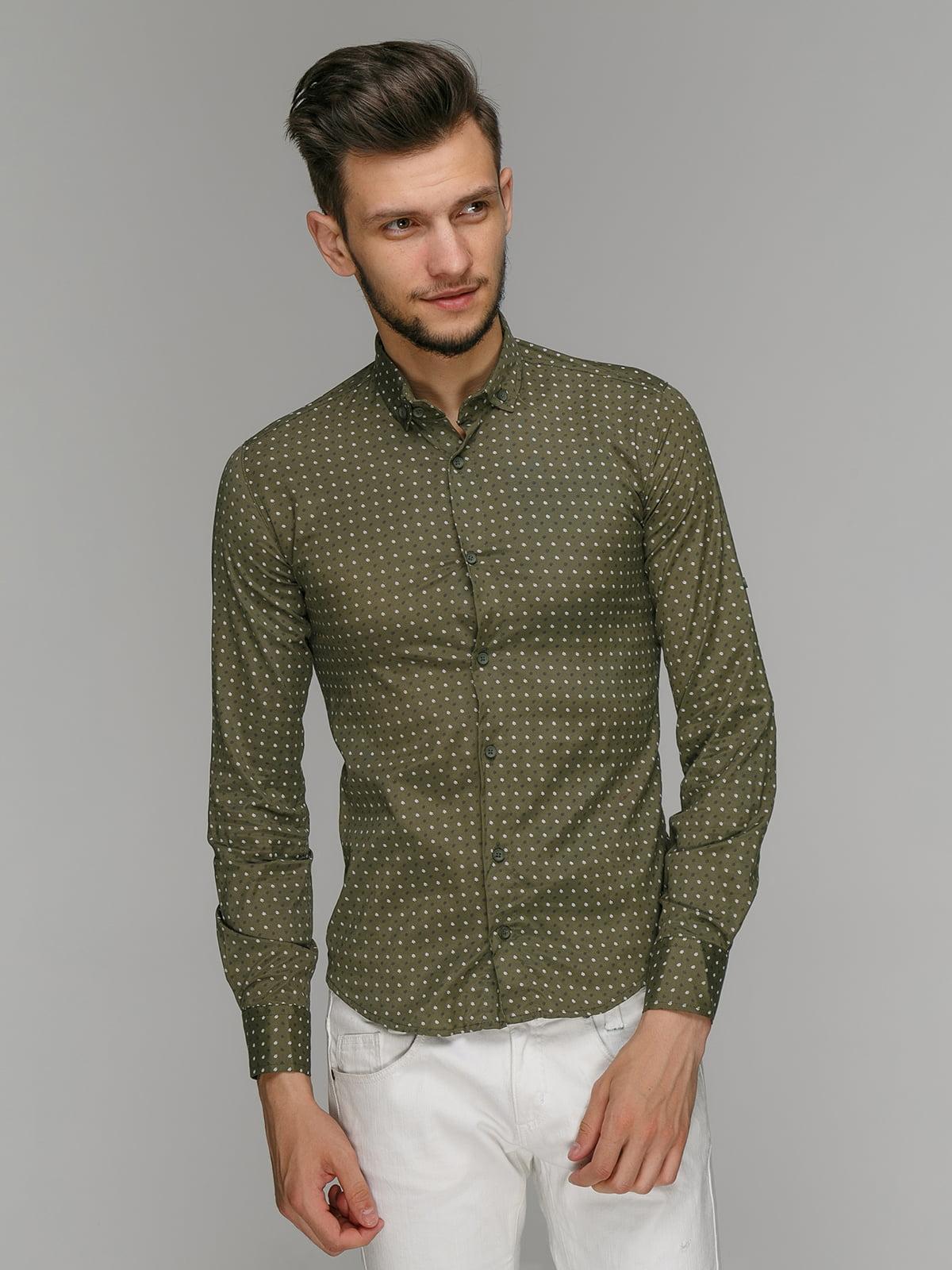 Рубашка цвета хаки   5086407