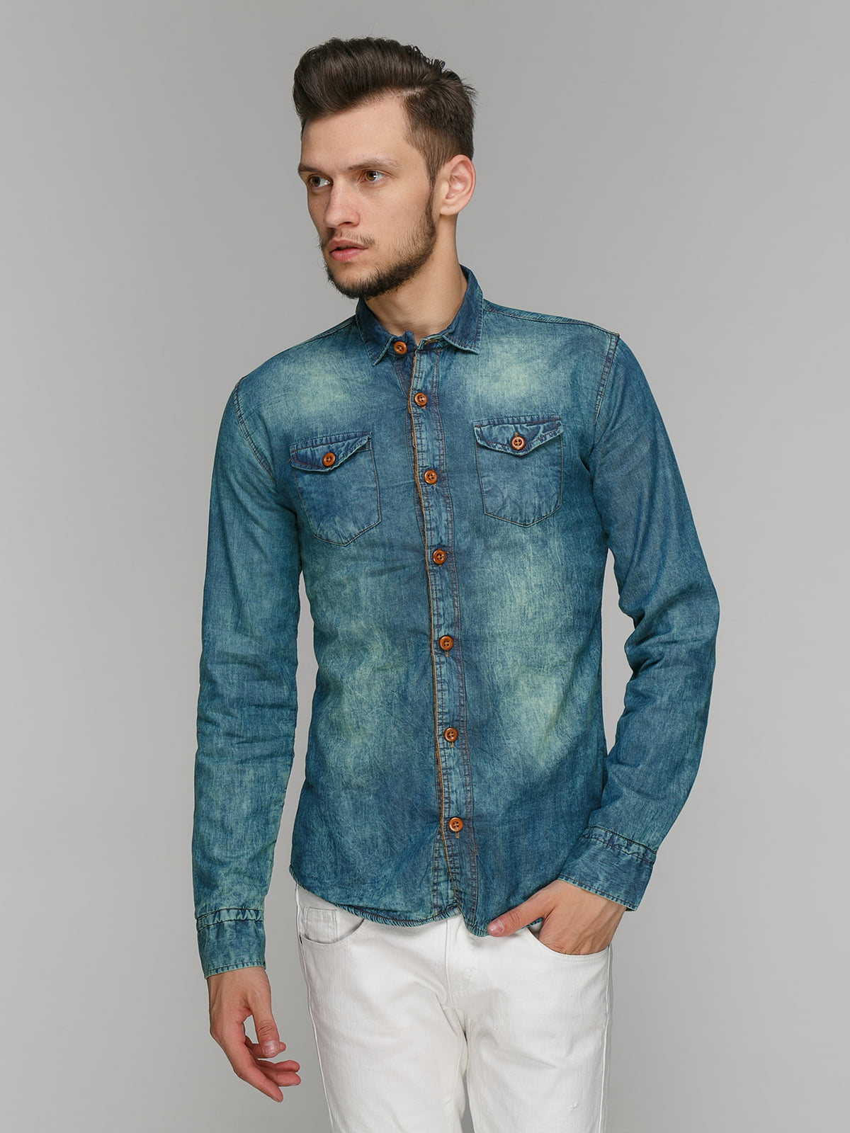Рубашка синяя | 5086377