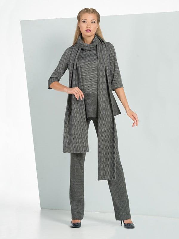 Костюм: джемпер, брюки и шаль | 5109751