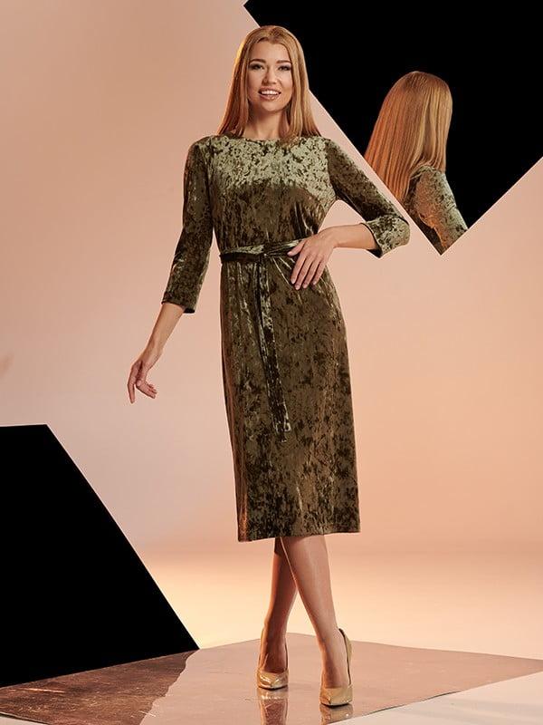 Платье цвета хаки   5109773