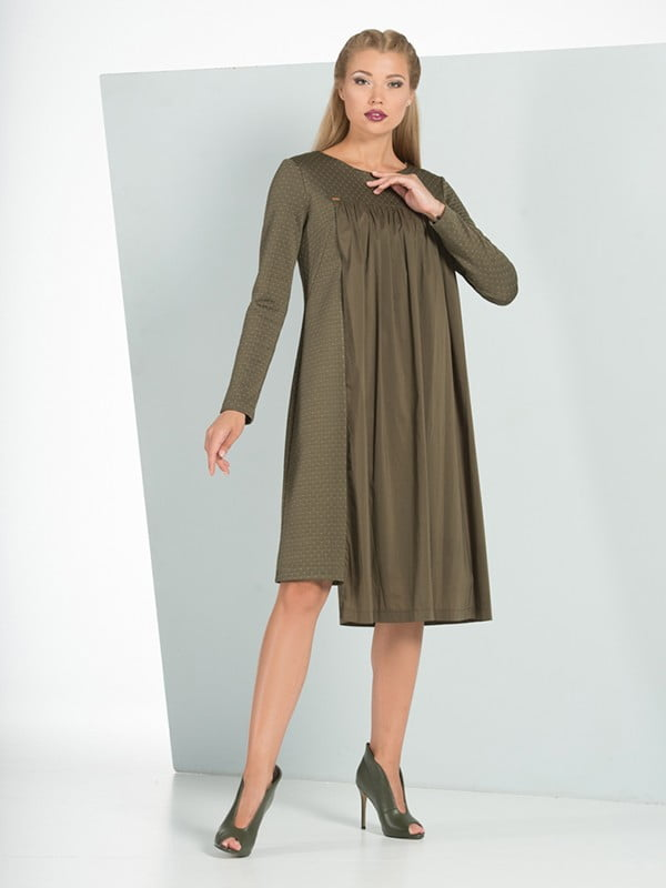 Сукня кольору хакі | 5109836