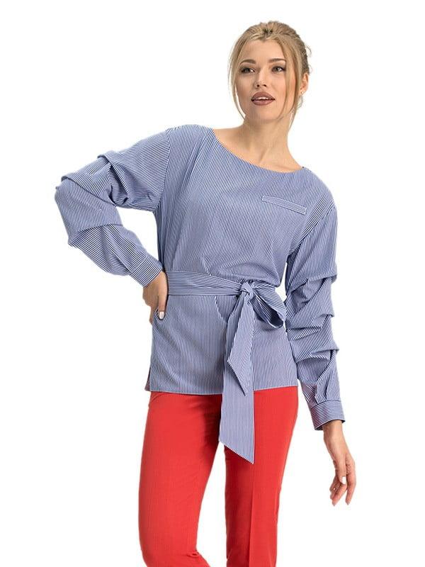 Блуза синяя в полоску | 5114046