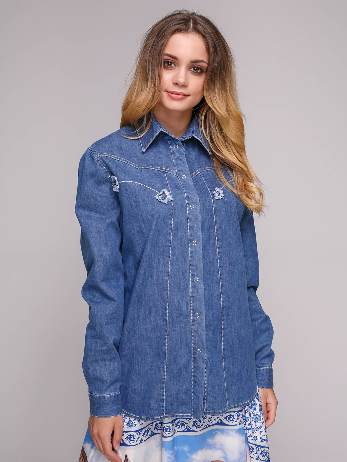 Блуза синяя | 5062843