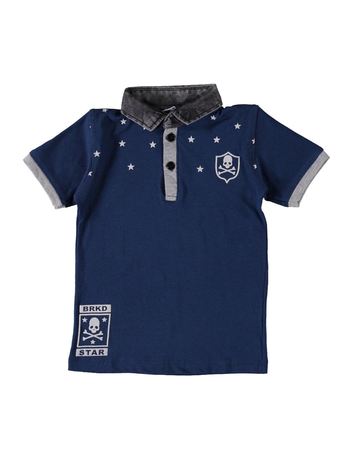 Футболка-поло синя   5115226
