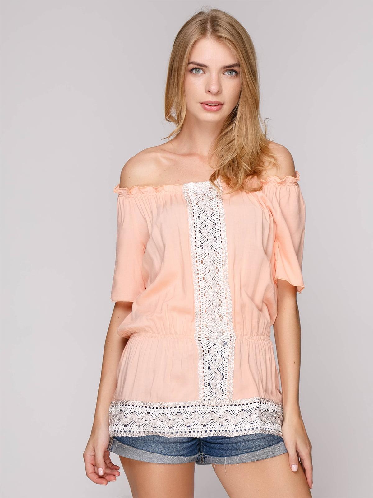 Блуза персикового цвета   5115418