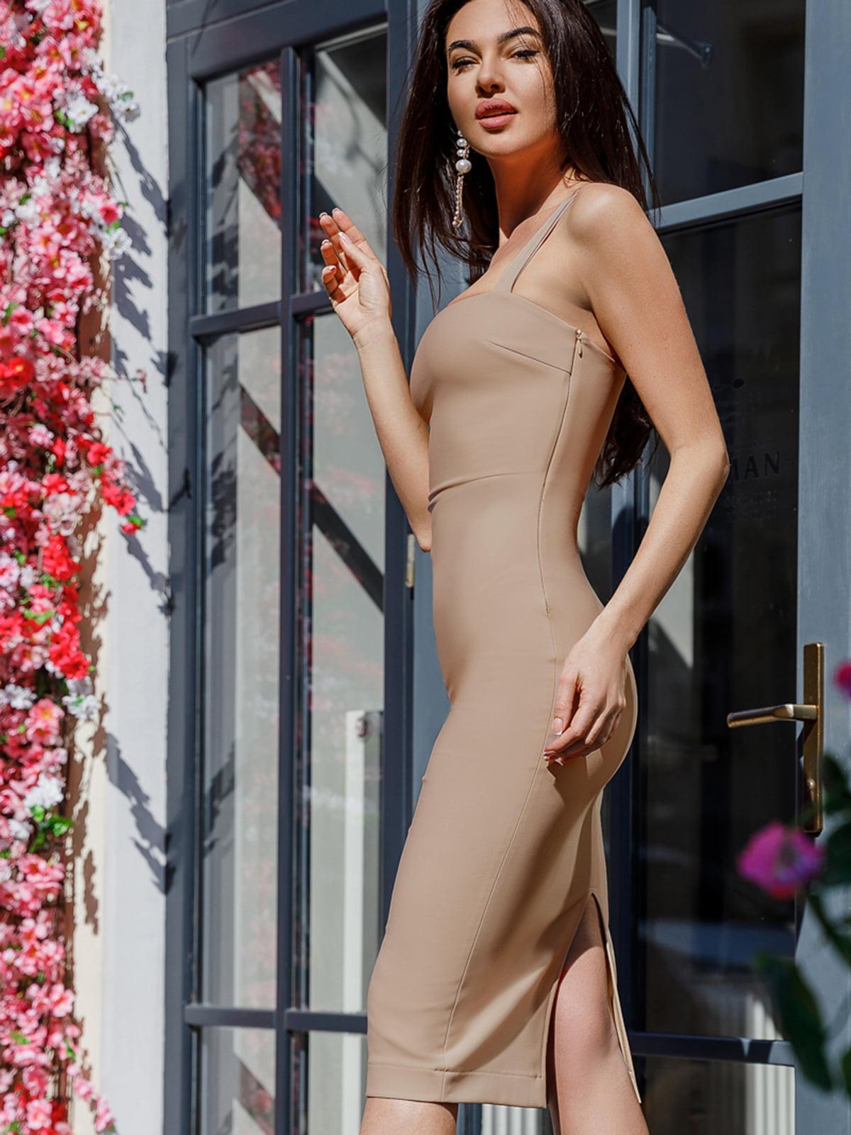 Платье бежевое | 5117124
