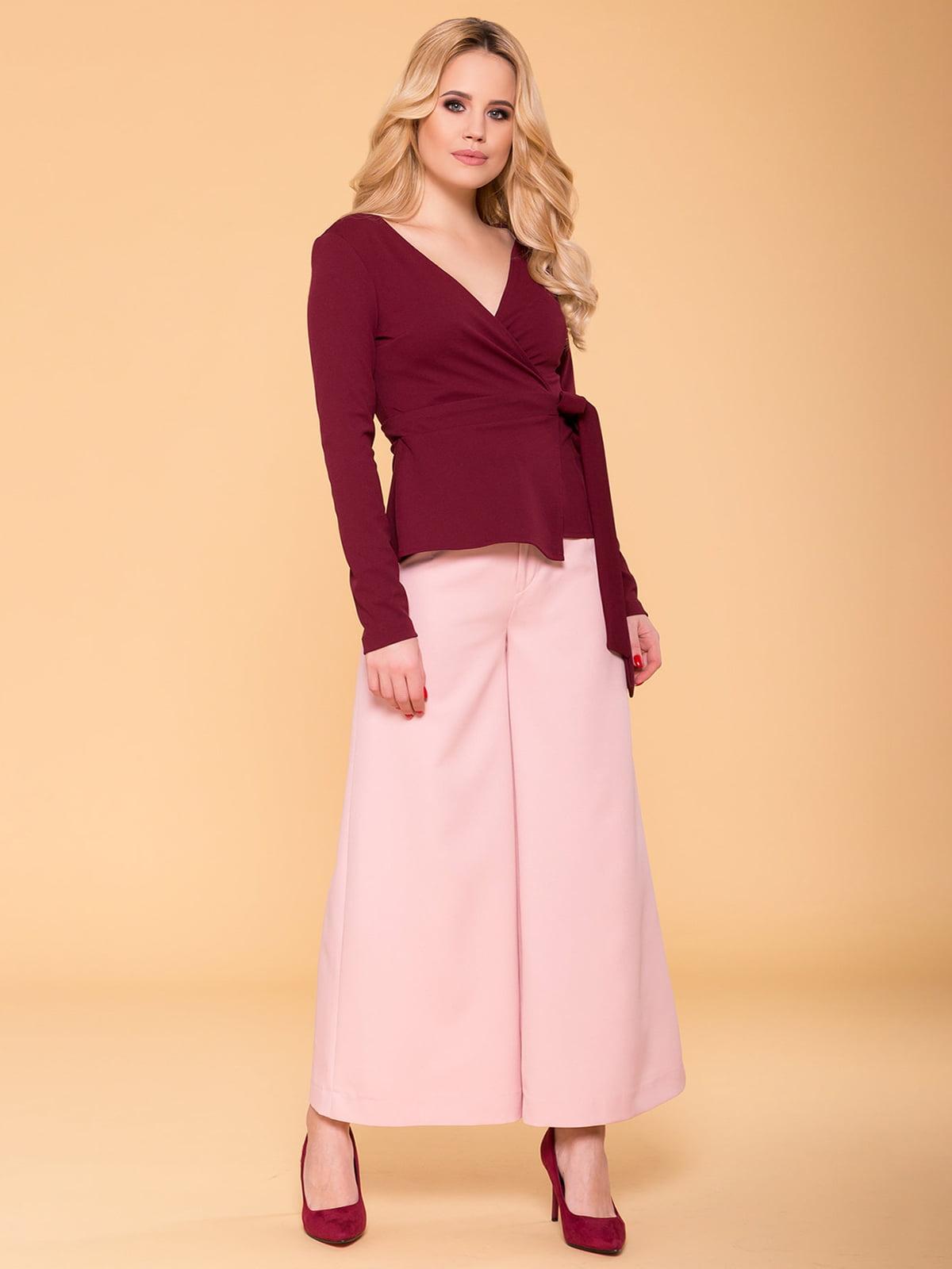 Блуза бордова | 4912542