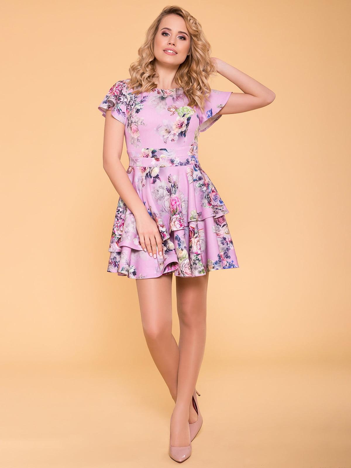 Сукня рожева у квітковий принт | 4986512
