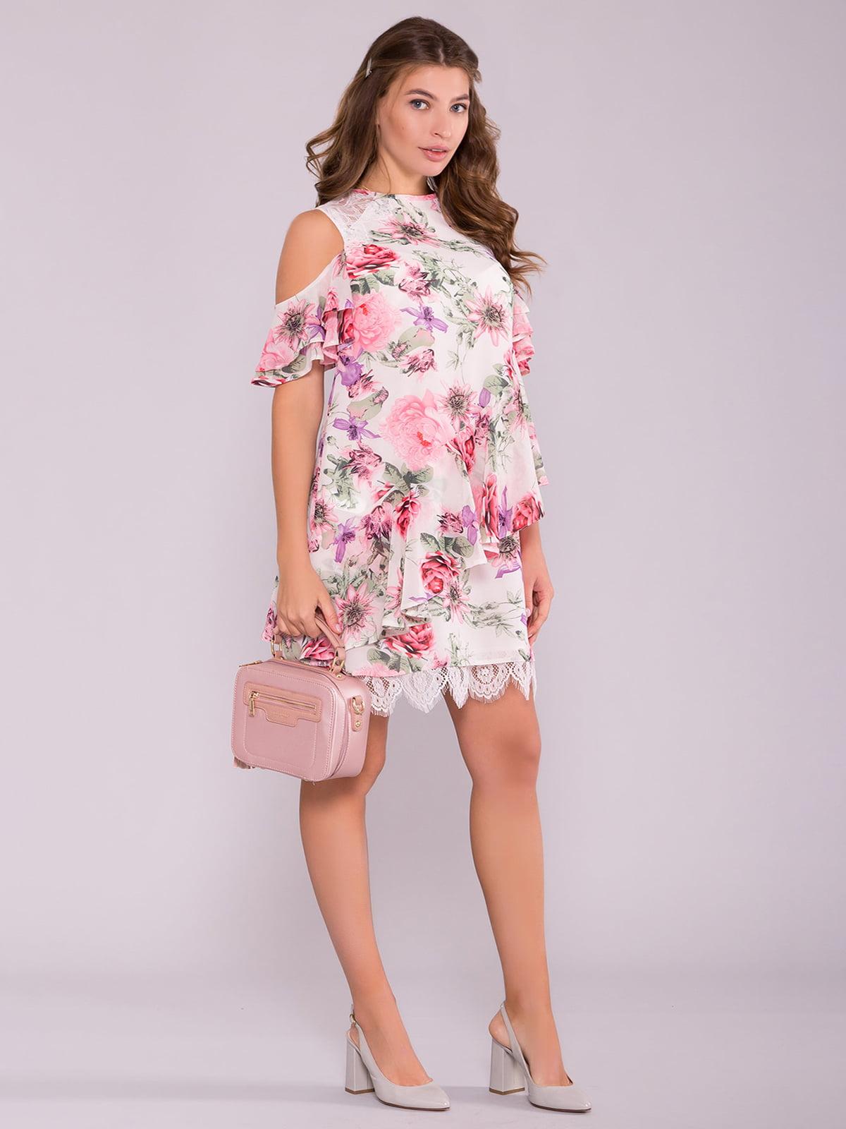 Сукня рожева у квітковий принт | 5094691