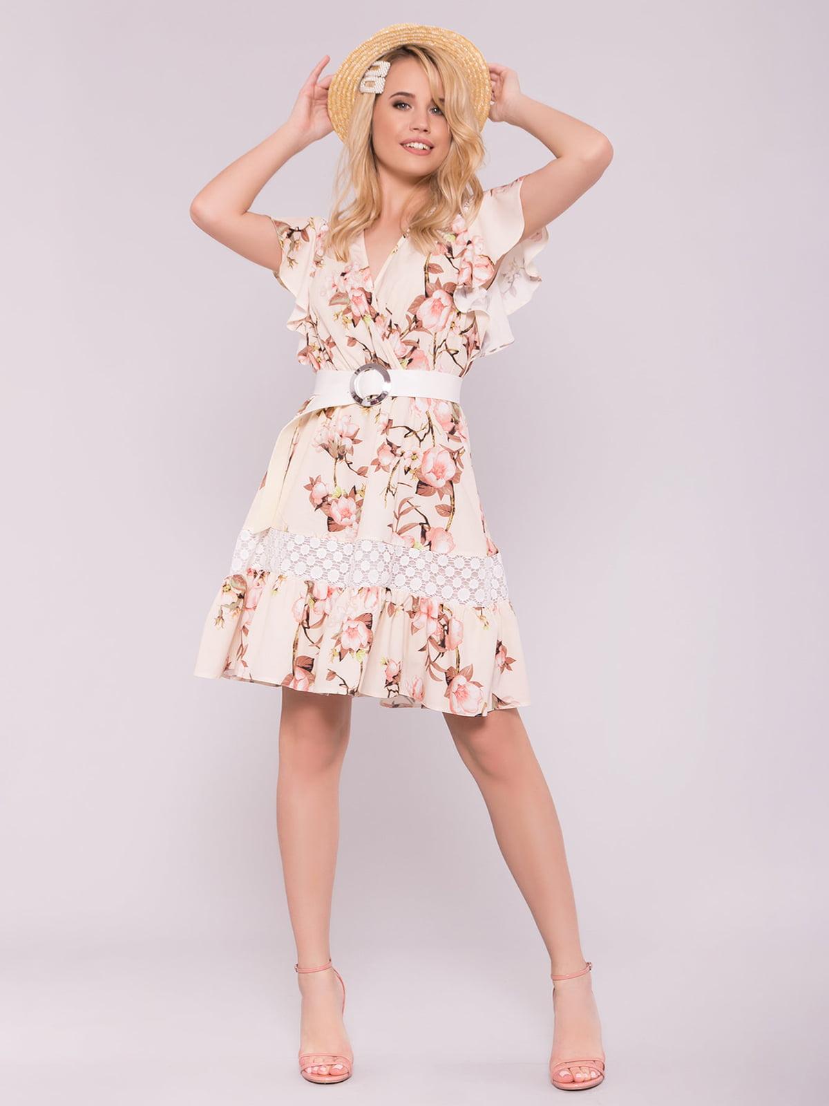 Сукня рожева у квітковий принт | 5094747