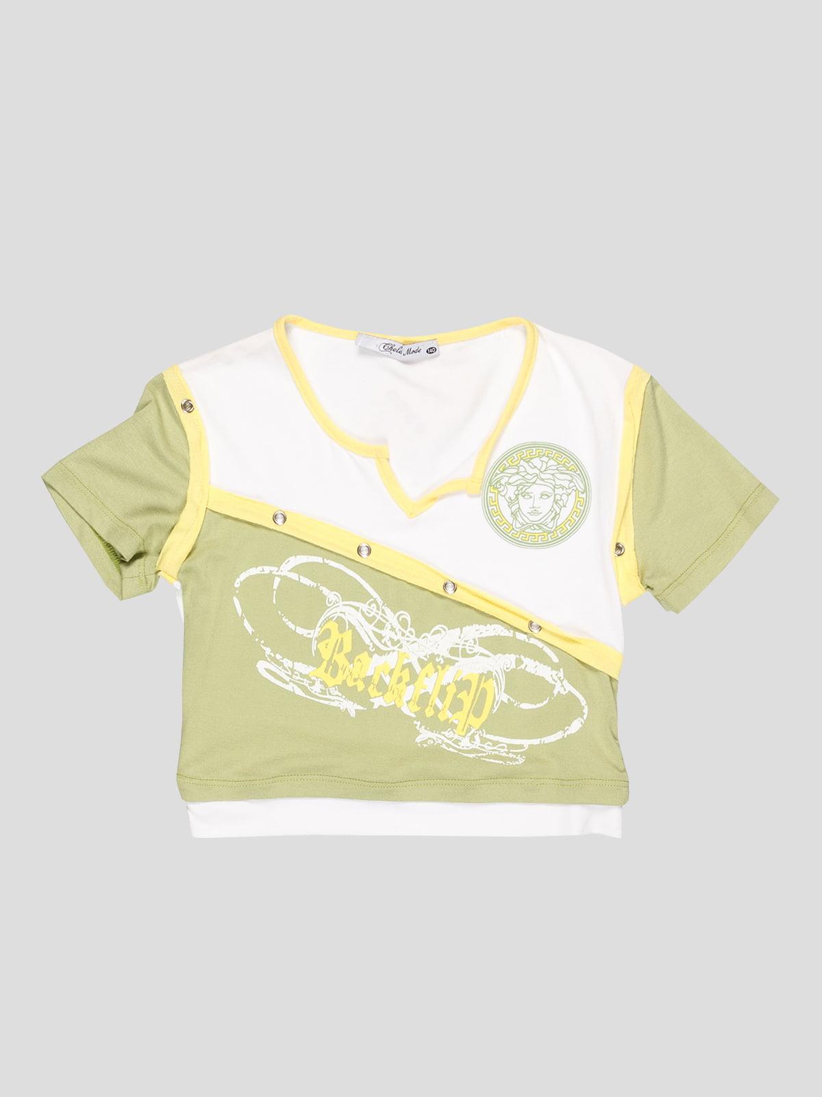 Топ біло-зелений | 3420730