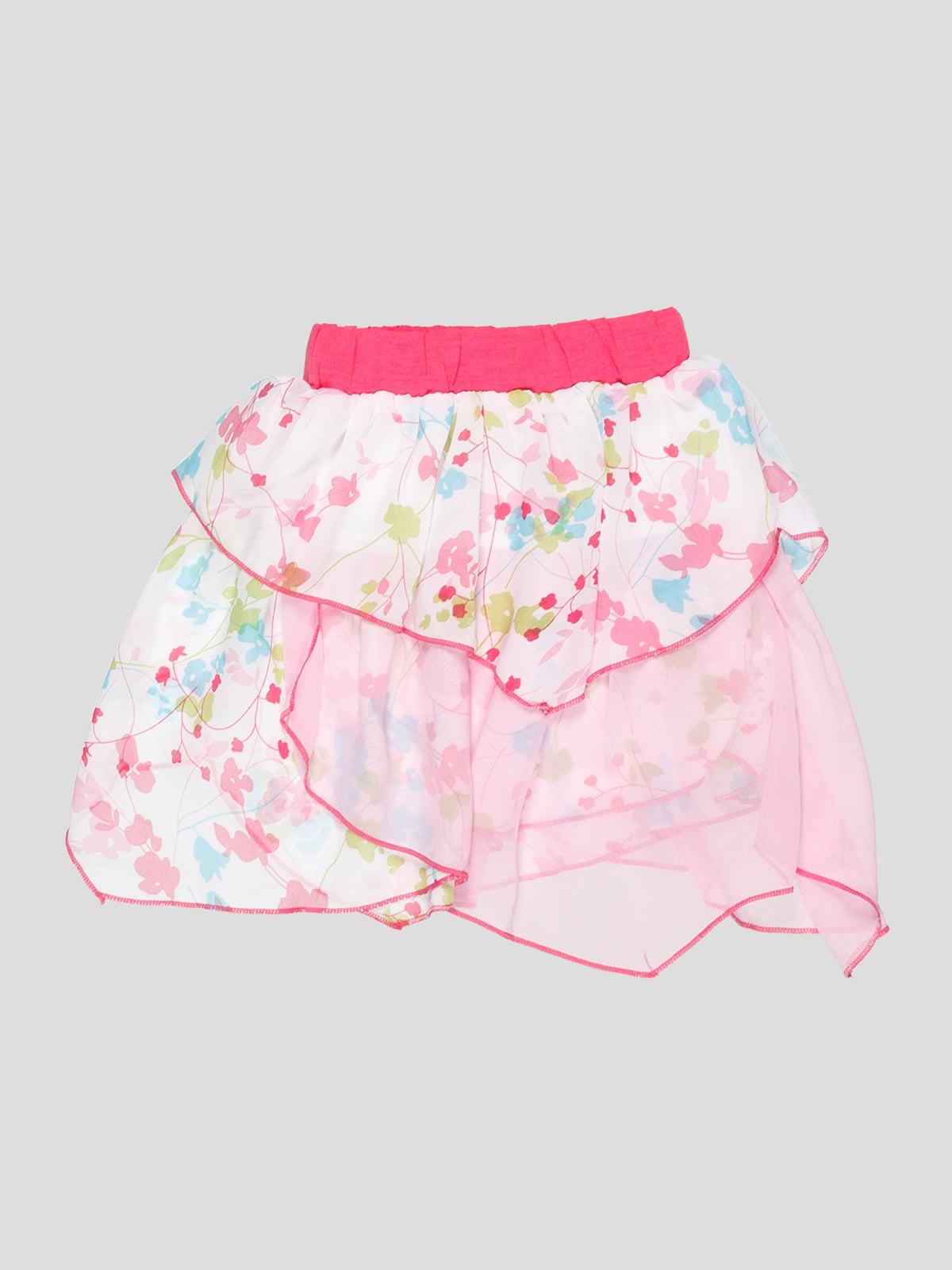 Юбка розовая в цветочный принт   3420585