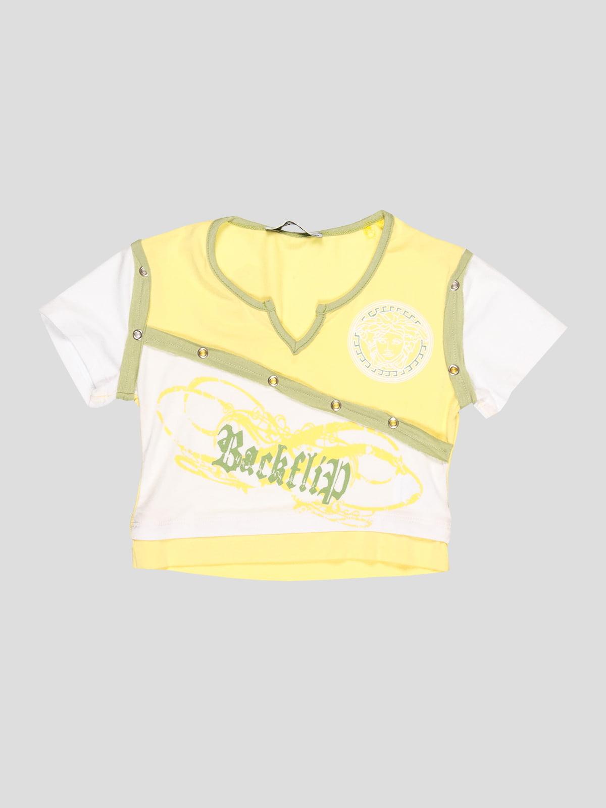 Топ жовто-білий | 3420599