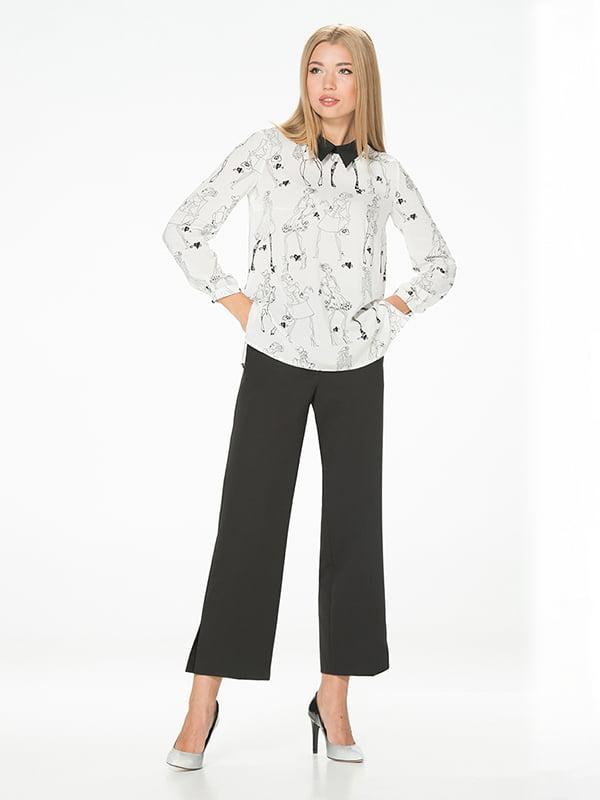 Блуза белая с принтом | 5115729