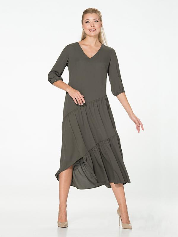 Платье цвета хаки | 5115931