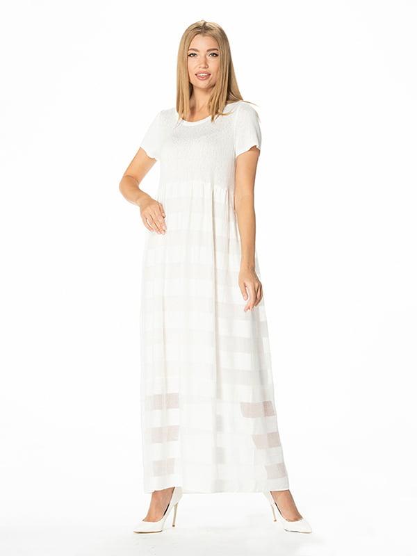 Сукня молочного кольору в смужку | 5115938